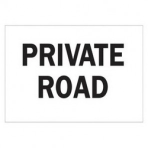 Brady® 43440 Traffic Sign, 10 in H x 14 in W, Black on White, Surface Mount, B-555 Aluminum