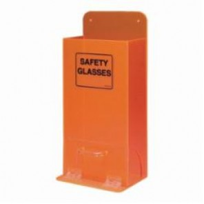 Brady® Deluxe™ MVSDO Visitor Spec Dispenser, 20 to 25 Glasses/Goggles, 18 in H x 8 in W, Wall Mount, Black on Fluorescent Orange