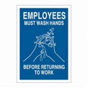 Brady® 47636 Restroom Sign, 10 in H x 7 in W, White on Blue, B-302 Polyester