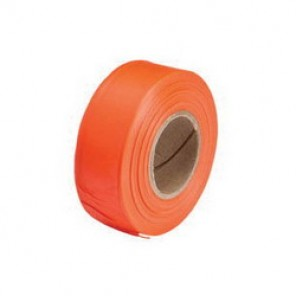 Brady® 58344 Non-Adhesive Flagging Tape, 300 ft Roll L x 1-3/16 in W, Orange