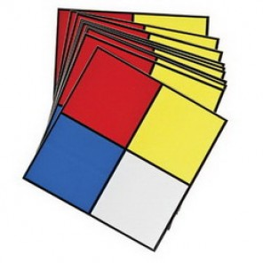Brady® 58501 Outdoor Grade NFPA Placard, 5 in H x 5 in W, Black/Red/Blue/Yellow on White, Surface