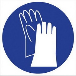 Brady® 58558 Square RTK Pictogram Label, 2-1/4 in H x 2-1/4 in W, B-946 Vinyl, Blue on White