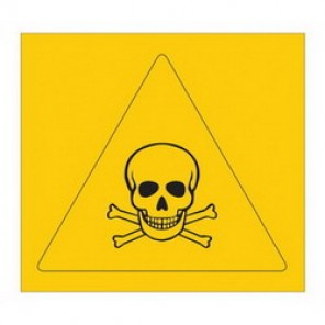 Brady® 58576 Square RTK Pictogram Label, 1-1/8 in H x 1-1/8 in W, B-946 Vinyl, Black on Yellow