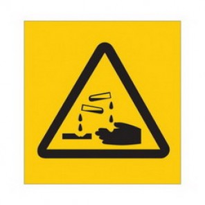 Brady® 58585 Square RTK Pictogram Label, 3/4 in H x 3/4 in W, B-946 Vinyl, Black on Yellow