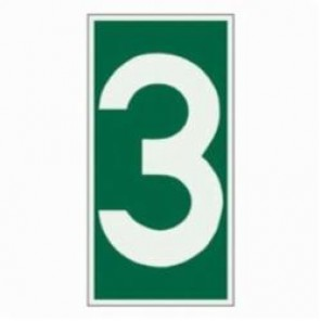 Brady® 59303 Rectangle Evacuation Sign, 6 in H x 3 in W, Light Green on Green, Self-Adhesive Mount, B-324 Glow-In-The-Dark Polyester