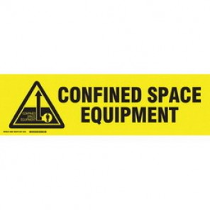 Brady® 60267 Cabinet Label, 7 in H x 24 in W, B-302 Polyester, Black on Yellow