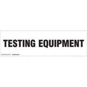 Brady® 60305 Cabinet Label, 3-1/2 in H x 12 in W, B-302 Polyester, Black on White