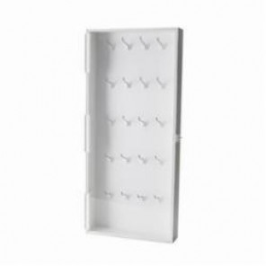 Brady® 65241 Enclosed Large Padlock Storage Module, 40 Locks, 30 in H x 15 in W x 3-1/2 in D, Sintra with Acrylic Door
