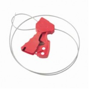 Brady® 65318 Grip Cinching Original Cable Lockout, 6 ft L Galvanized Steel, Red