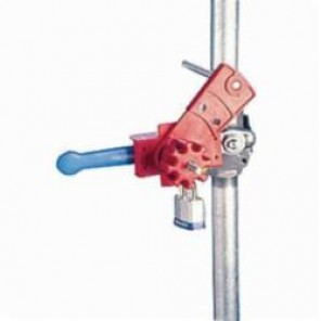 Brady® 65401 Large Ball Valve Lockout, Fits Handle 1-5/8 in W x 1-1/4 in THK, 5 Padlocks, Nylon/Stainless Steel
