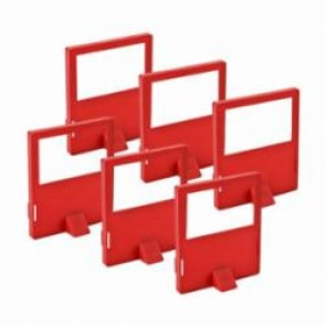 Brady® 65406 Lockout Cleat, For Use With 480/600 V Lockout, LOTO-17 Polypropylene, Red