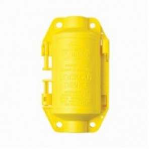 Brady® 65695 Small Electrical Plug Lockout, 4-3/4 in H x 2-3/4 in W, Yellow, 1/2 in Max Dia Padlock Shackle