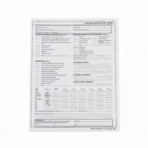 Brady® 65936 Confined Space Entry Permit, English, 11 in L x 8-1/2 in W, Black on White