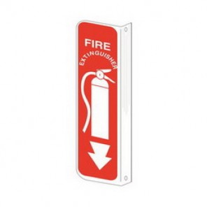 Brady® 71046 Fire Sign, 10 in H x 14 in W, Red on White, Surface Mount, B-401 Plastic
