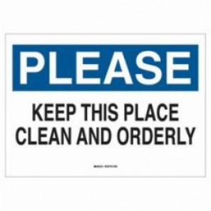 Brady® 72808 Maintenance Sign, 7 in H x 10 in W, Black/Blue on White, Surface Mount, B-120 Premium Fiberglass