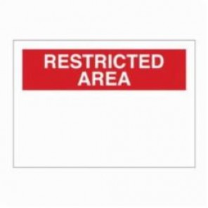 Brady® 76053 Rectangle Security Sign, 10 in H x 14 in W, Red on White, Surface Mount, B-120 Premium Fiberglass