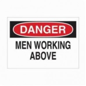Brady® 78007 Rectangle Danger Sign, 18 in H x 24 in W, Black/Red on White, Surface Mount, B-836 Polypropylene