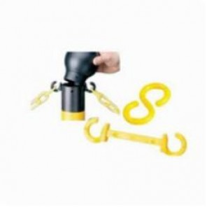 Brady® 78257 Connecting S Hook, 2 in L, For Use With Chain, B-900 Polyethylene, Yellow
