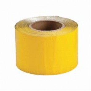 Brady® 78262 Economy Pavement Marking Tape, 150 ft L x 4 in W, Reflective Yellow, Vinyl