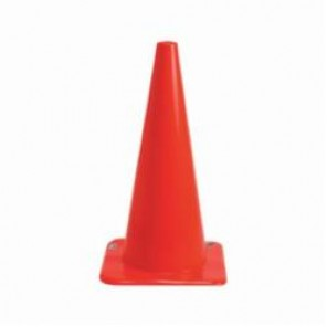 Brady® 80112 Flexible Rigid Traffic Cone, 28 in H, Fluorescent Orange Vinyl Cone