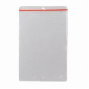 Brady® 81767 Protective Envelope Without Grommet, 8-1/2 in H x 5-1/2 in W, Zip Lock Closure, Plastic, Clear