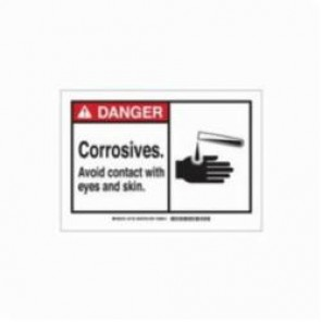 Brady® 21723 Rectangle Danger Sign, 7 in H x 10 in W, Black/Red on White, Surface Mount, B-401 Plastic