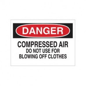 Brady® 84363 Laminated Chemical & Hazardous Material Sign, 7 in H x 10 in W, Black/Red on White, Surface Mount