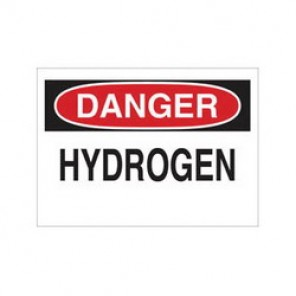Brady® 84409 Laminated Chemical & Hazardous Material Sign, 7 in H x 10 in W, Black/Red on White, Surface Mount