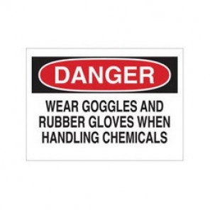 Brady® 84457 Laminated Chemical & Hazardous Material Sign, 7 in H x 10 in W, Black/Red on White, Surface Mount