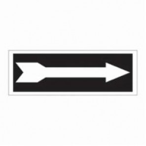 Brady® 84619 Exit Sign, 3-1/2 in H x 10 in W, Black on White, Surface Mount, B-302 Polyester