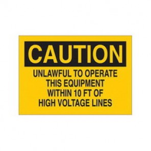 Brady® 84855 Electrical Hazard Sign, 10 in W x 7 in H, Black on Yellow, B-302 Polyester