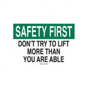 Brady® 88839 Laminated Safety Slogan Sign, 10 in H x 14 in W, Green/Black on White, Surface Mount, B-302 Polyester