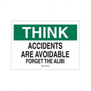 Brady® 88861 Laminated Safety Slogan Sign, 10 in H x 14 in W, Green/Black on White, Surface Mount, B-302 Polyester