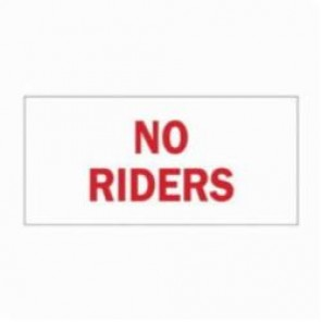 Brady® 89135 Laminated Rectangle Traffic Sign, 3-1/2 in H x 5 in W, Red on White, Self-Adhesive Mount, B-302 Polyester