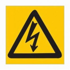 Brady® 89153 High Performance Laminated Square Electrical Hazard Sign, 3 in H x 3 in W, Black on Yellow, B-302 Polyester