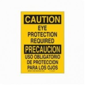 Brady® 90799 Laminated Rectangle Caution Sign, 14 in H x 10 in W, Black on Yellow, Self-Adhesive/Surface Mount, B-302 Polyester