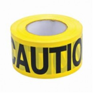 Brady® 91212 Lightweight Barricade Tape, CAUTION, 3 in W x 200 ft L, Yellow/Black, Polyethylene