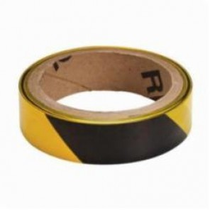 Brady® 91228 Economy Grade Barricade Tape, 1 in W x 100 ft L, Black/Yellow Stripe, Polyethylene