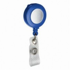 Brady® 95071 Retractable Badge Holder, Heavy Duty Nylon, Blue