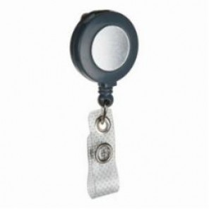 Brady® 95074 Retractable Badge Holder, Heavy Duty Nylon, Gray