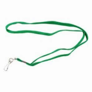 Brady® 95091 Lace Style Lanyard, Cloth, Green