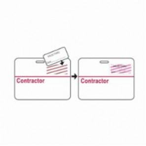 Brady® 95641 TIMEtoken® 1-Day Contractor Badge, Contractor, 3 in L x 4 in W, Red