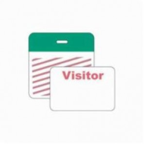 Brady® 95651 SecurAlert® 1 Week Color Card Clip-on Badge, Visitor, 3 in W x 3 in H, Green