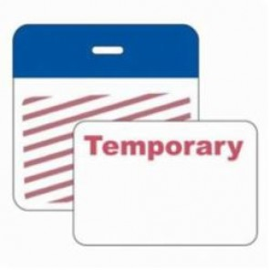 Brady® 95669 SecurAlert® 1 Week Color Card Clip-on Badge, Temporary, 3 in W x 3 in H, Blue