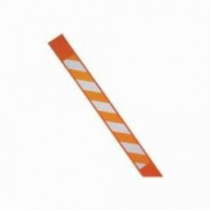 Brady® 96922 Bradystake® Warning Stake Without Point, Orange on White Reflective, 66 in H, B-130 Reinforced Polymer