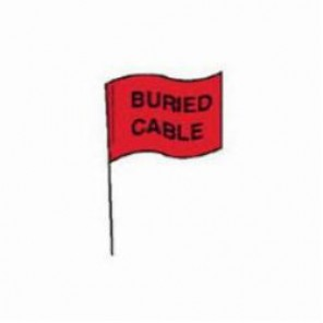 Brady® 98166 Marking Flag With 30 in Steel Rod, 4 in H x 5 in W, Black on Red, Plastic