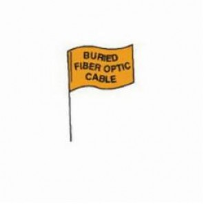 Brady® 98169 Marking Flag With 30 in Steel Rod, 4 in H x 5 in W, Black on Orange, Plastic