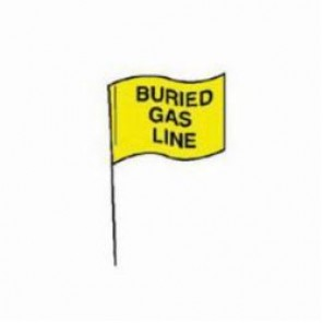 Brady® 98171 Marking Flag With 30 in Steel Rod, 4 in H x 5 in W, Black on Yellow, Plastic