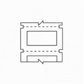 Brady® B30EP-171-593-RD Raised Panel Label, 1.06 in W x 0.49 in H, Red, B-593 Polyester