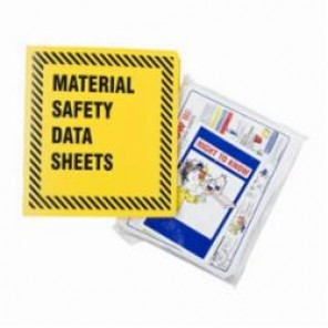 Brady® Prinzing® BR361Y MSDS Binder, Material Safety Data Sheets, English, Black on Yellow, 1-1/2 in Ring, 11-5/8 in H